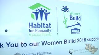 Knights Take Part in Women Build for Habitat for Humanity
