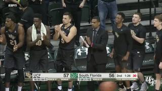 RECAP: UCF Men's Basketball at USF (3-2-17)