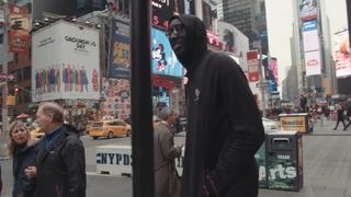 UCF MBB's Tacko Fall, A.J. Davis and B.J. Taylor walk Times Square