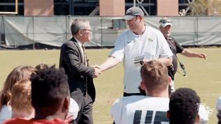 FB: President-Elect Dale Whittaker Attends Practice